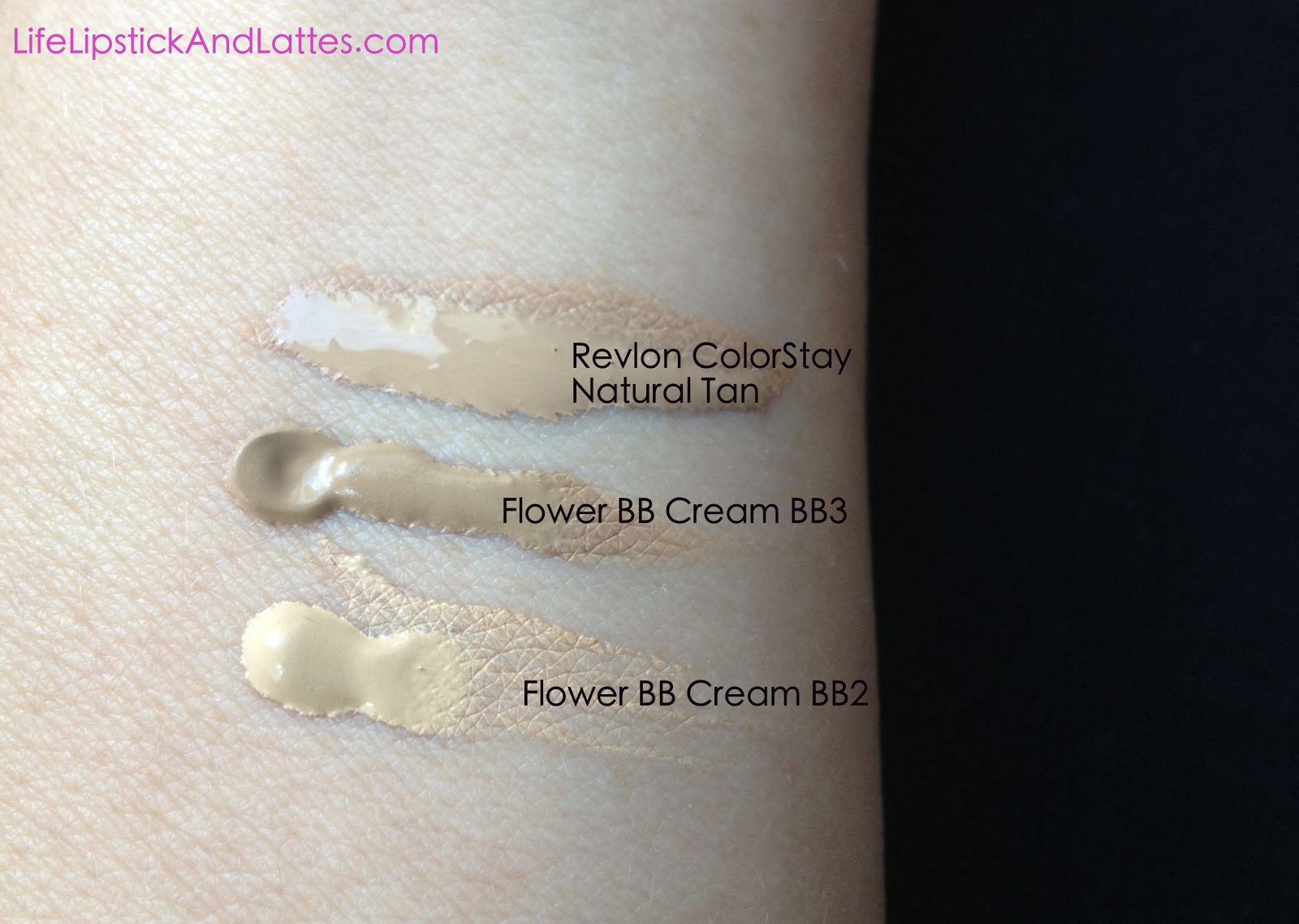 Life Lipstick and Lattes Flower BB Cream BB2 and BB3 Swatches