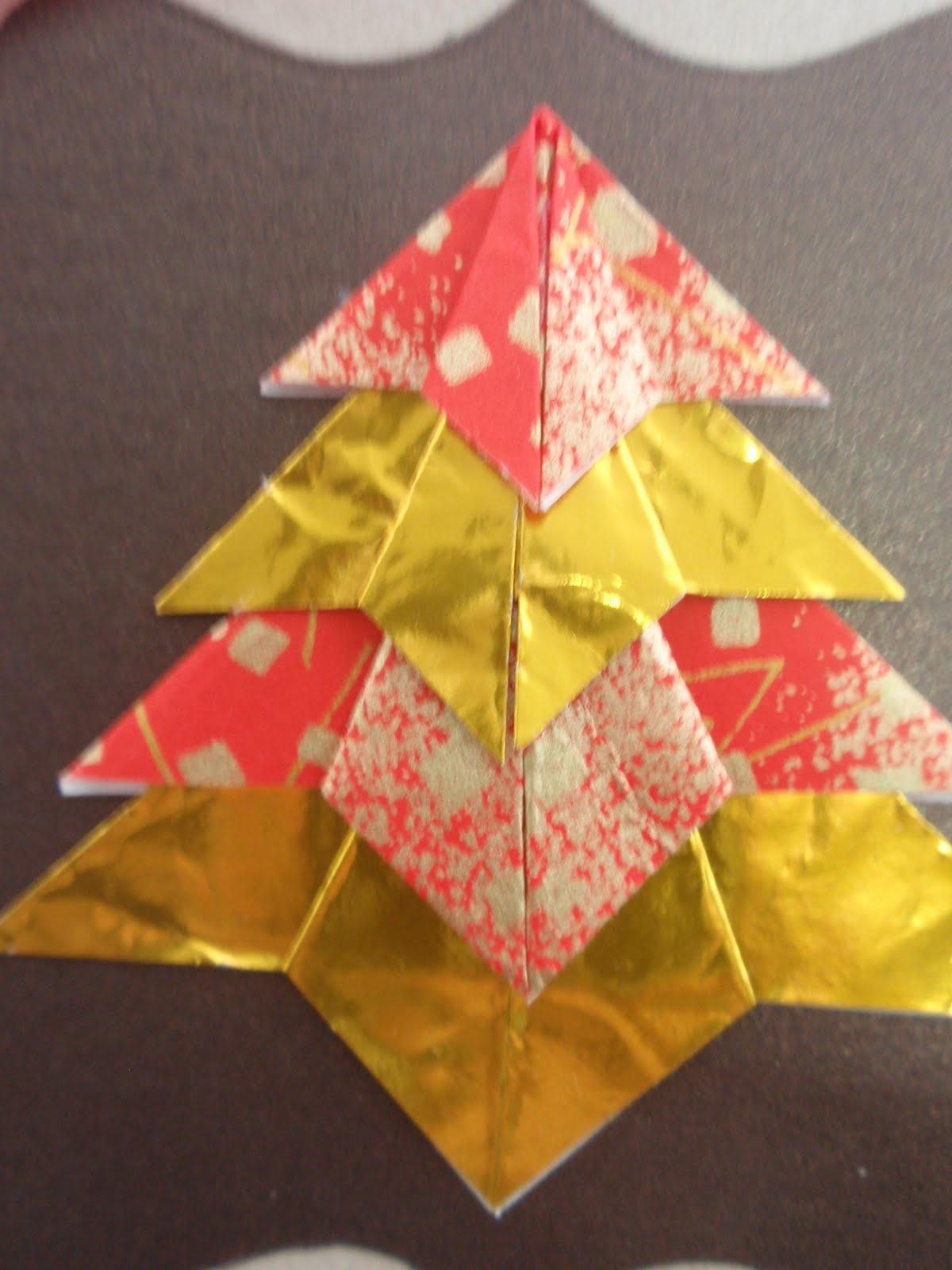 crazy for paper origami tree card