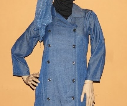 Busana Muslim Denim Chambray Lavia