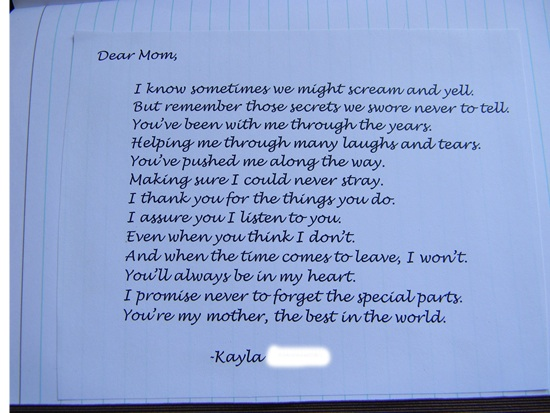 mother daughter letters