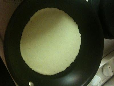 dry frying tortilla