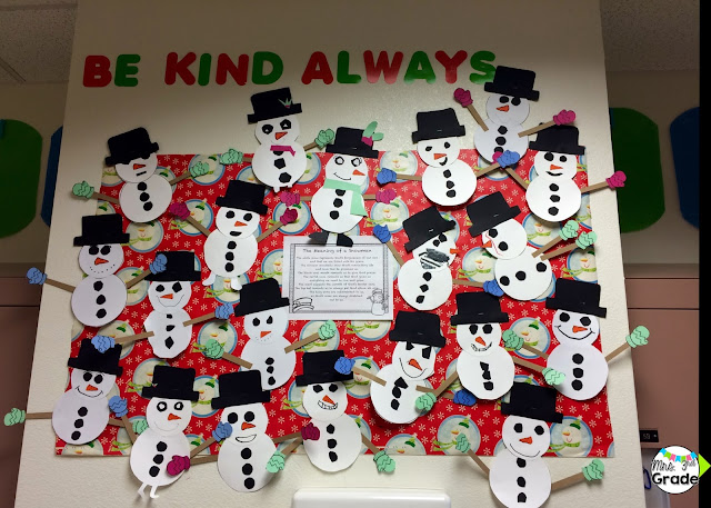 Each snowman is different just like every student in our classroom!
