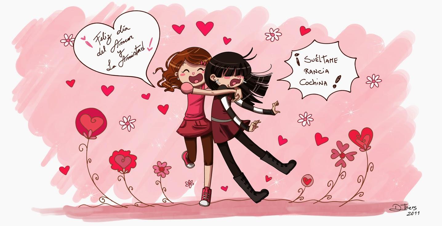 Frases De Amor y Amistad Amiga Feliz Da del Amor y la Amistad