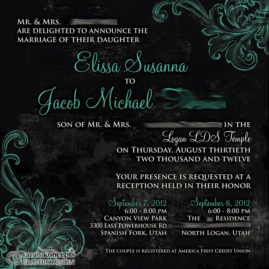 Elissa + Jacob 6x6 Square Wedding Invite U0026 Inserts
