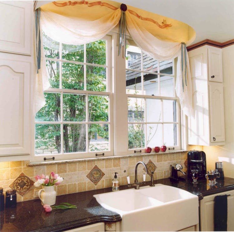 Elegant Kitchen Curtains Valances: 15 Elegant Kitchen Window Curtains For Window Decoration