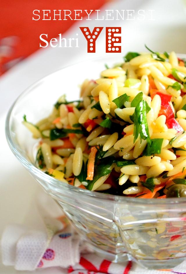arpa şehriye salatası tarifi,salata tarifleri,meze tarifleri