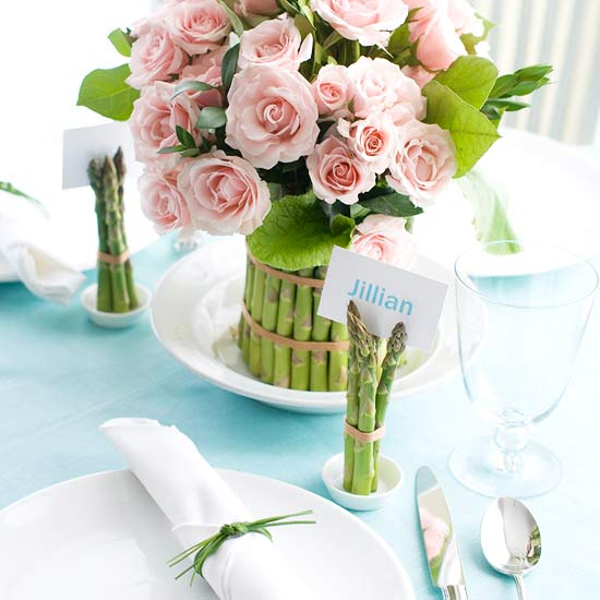 Modern furniture spring centerpieces and table