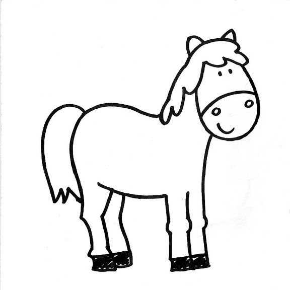 Dibujos infantiles: Dibujo infantil caballo
