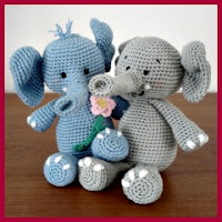 Novios elefantes amigurumis