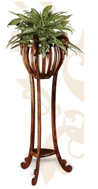Decoraci n tendencias en estilo cl sico d nde coloco las - Pedestal para plantas ...