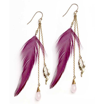 feather earrings - For cute pari