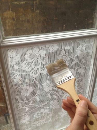 tela de encaje para semi tapar ventana