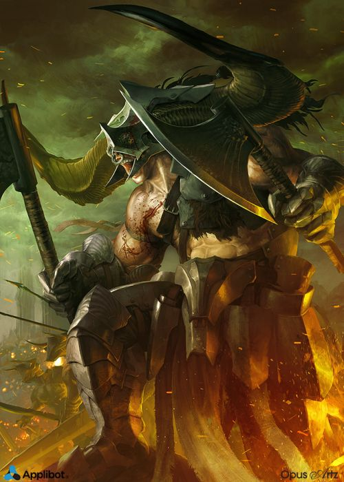 Bjorn Hurri ilustrações artes conceituais fantasia games Applibot - Crazed God Advanced