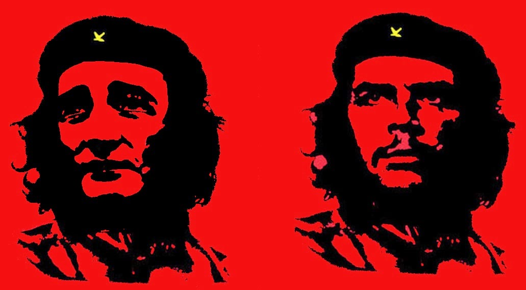 Ted Cruz and Che Guevara - both in the Alberto Korda t-shirt pose - right and left-wing divisive politicians