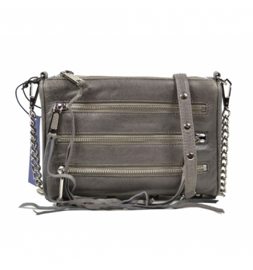 Rebecca Minkoff 5 - Zip Mini Crossbody Charcoal Grey