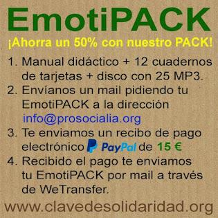 Ahorra un 50% con nuestro EmotiPACK: Manual didáctico + 12 cuadernos + 25 MP3