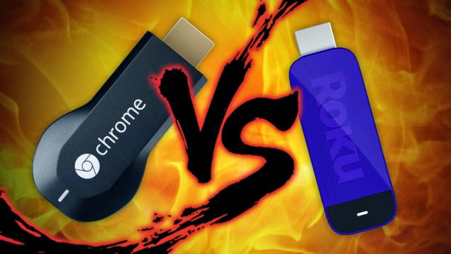 What is a better choice? Chromecast vs. Roku