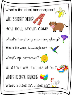 https://www.teacherspayteachers.com/Product/Rhyming-Morning-Greetings-2039280