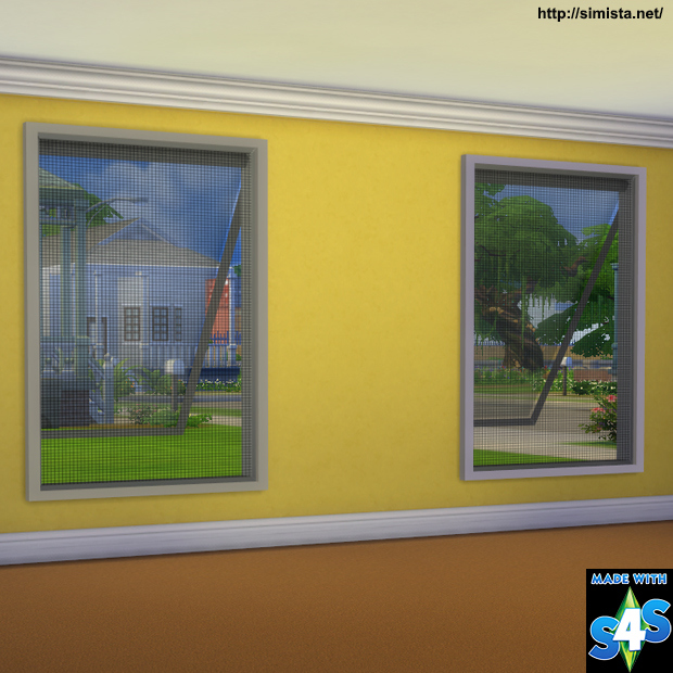 My sims 4 blog open window and insect screen by mr s for Window insect screen