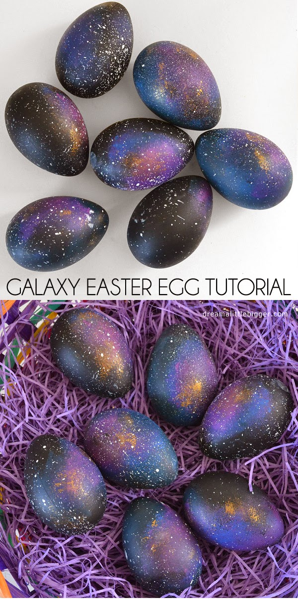 How To Make Galaxy Easter Eggs
