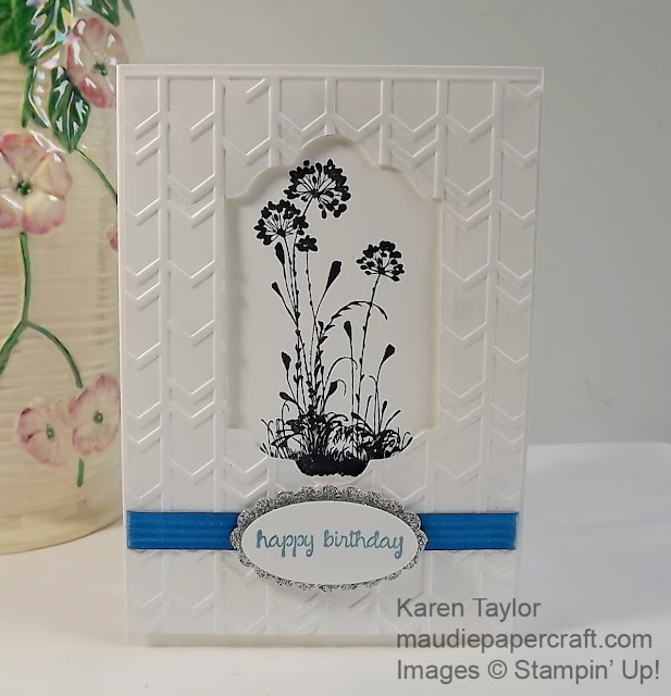 Stampin' Up! Serene silhouettes embossed card