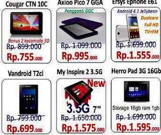 tablet android harga 1 jutaan