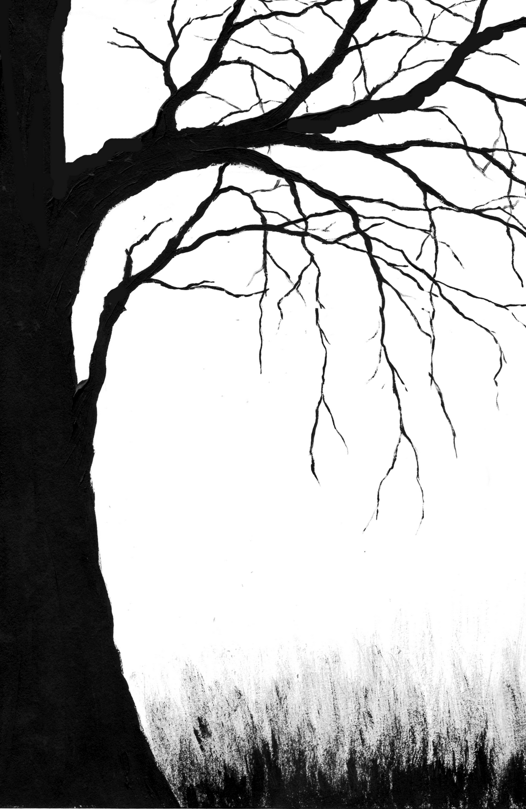 Easy Spooky Tree Drawing And Many More in Various