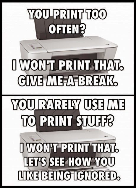 Unhappy Printer