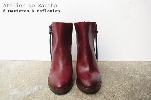 Bottines cuir bordeaux Atelier do Sapato