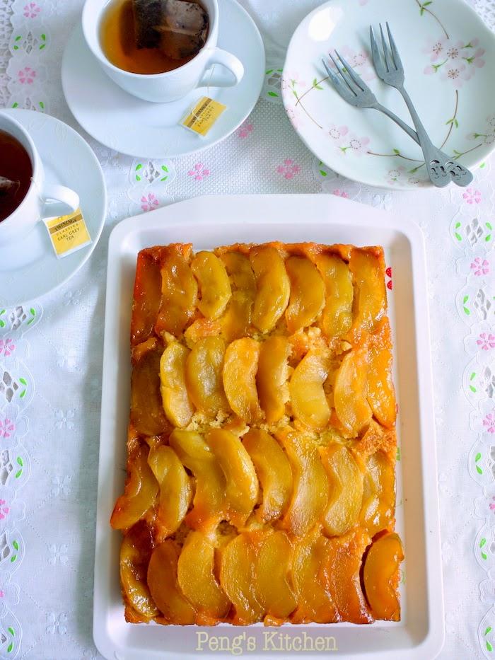 Peng's Kitchen: Apple Cornmeal Upside-Down Cake