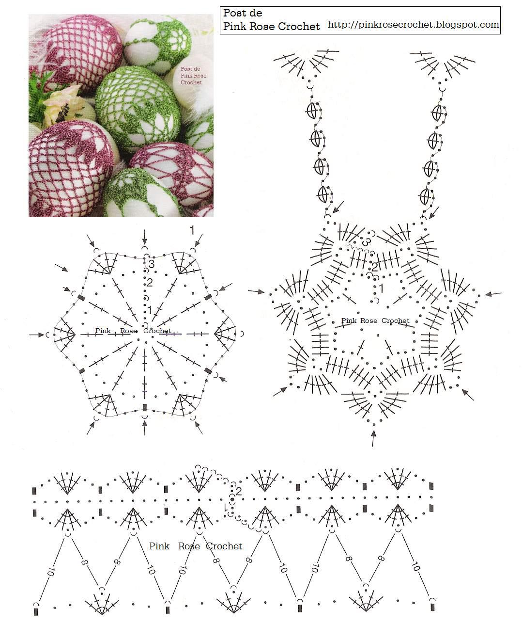 Вязаные яйца крючком схемы и описание