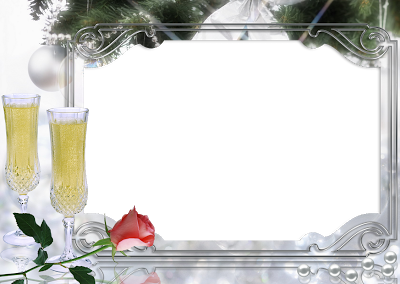 marco foto digital año nuevo