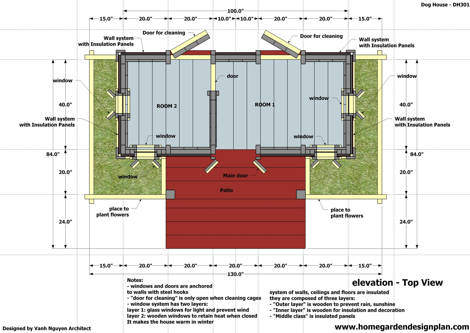 Wood project for Dog kennel floor plans