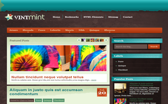 VintMint - Free Blogger Template