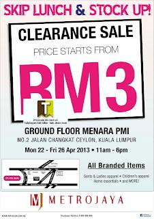 Metrojaya Clearance Sale 2013