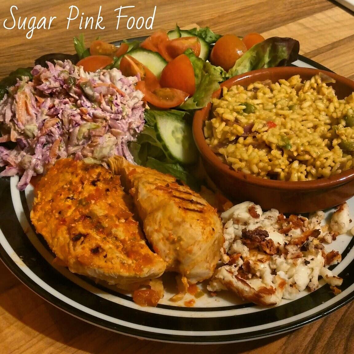 Sugar pink food slimming world recipe nandos style peri peri chicken spice rice Sw meals