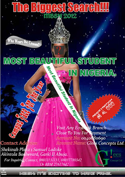 The Most Beautiful Student in Nigeria!!! The Search is ON! Click on Poster for More Info>>>