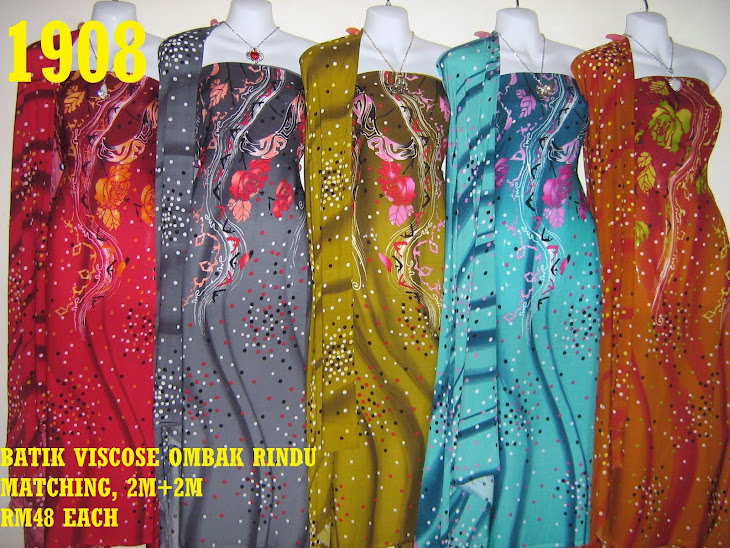 BVM 1908: BATIK VISCOSE OMBAK RINDU MATCHING, EXCLUSIVE DESIGN, 2M+2M, 5 COLORS