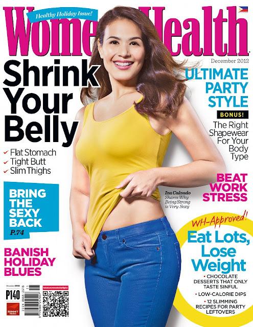 Iza Calzado Covers Women's Health PH December 2012 Issue