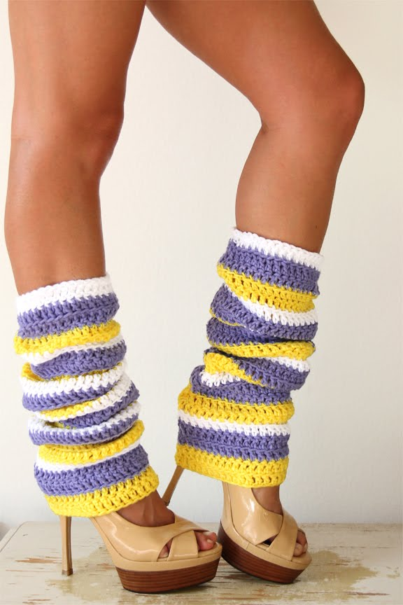 Mademoiselle Mermaid Lakers Girl Leg Warmers By Mademoiselle Mermaid