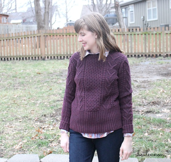 Layered sweater look - winter outfit idea | www.shealennon.com