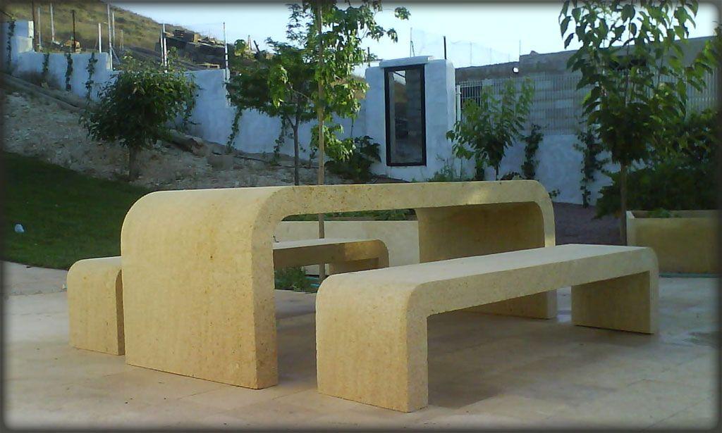 Mesas de jardin de piedra top conjunto de mesa de exterior y bancos de piedra para jardin with - Mesas de piedra para exterior ...