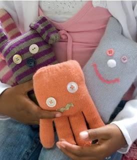 Reciclatex Cómo hacer unos muñecos con unos guantes viejos