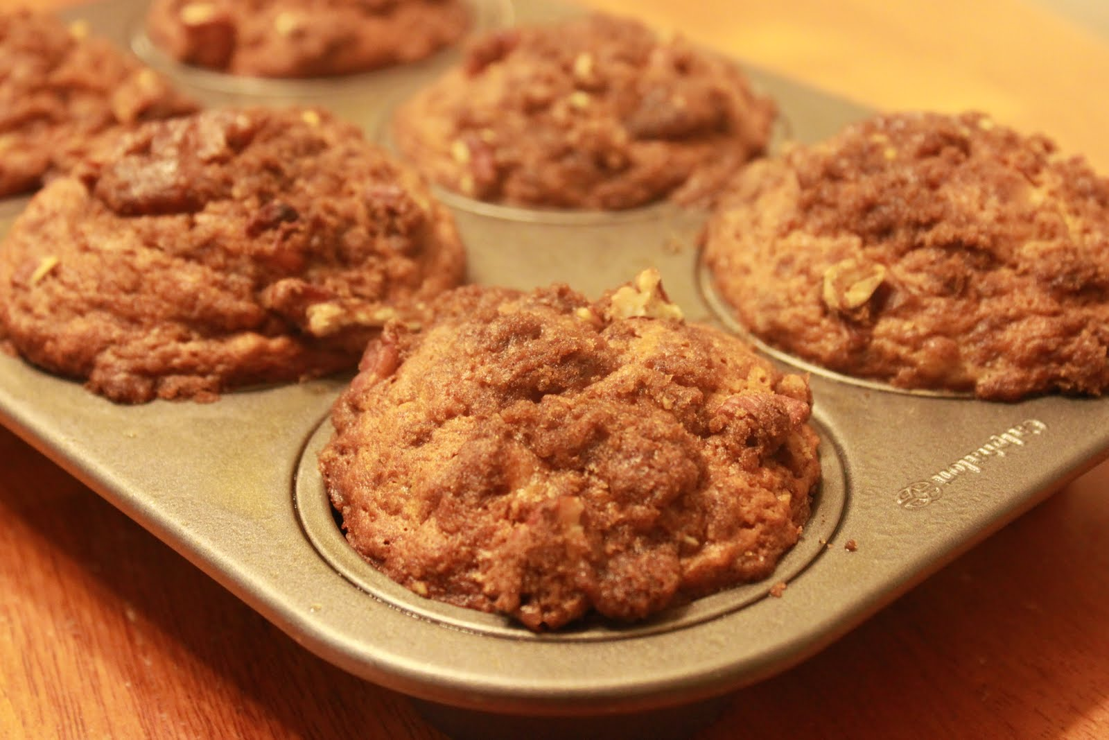 Domestic Revolt: Banana Muffins with Pecan Crumb Topping
