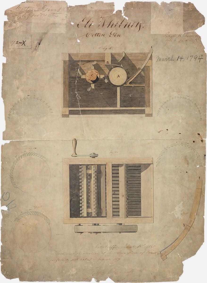 Cotton Gin Patent Eli Whitney