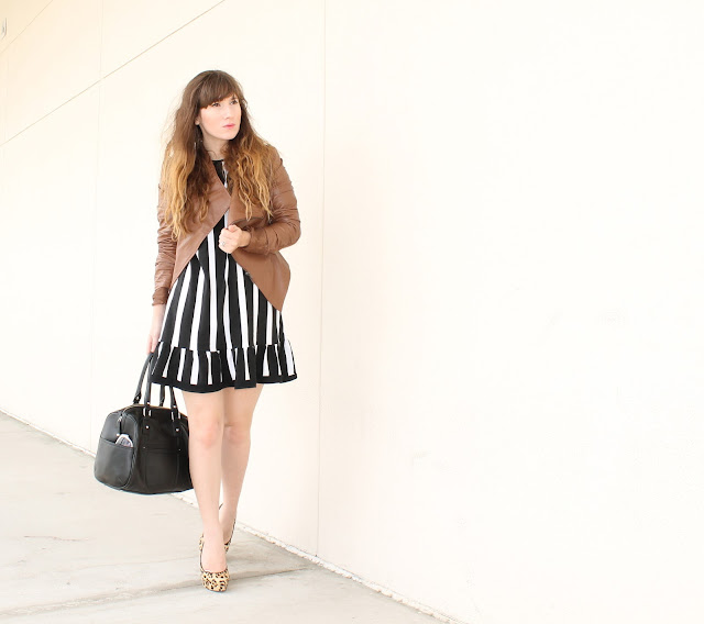 how to wear leather jackets with dresses