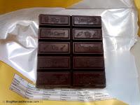 "Chocolate para cobertura y postres Fin Carré de Lidl dividido en ""lingotes"" de 10 gramos."