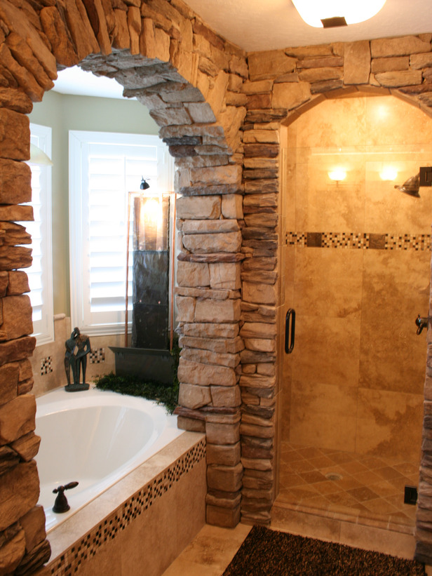 Photo Stone Tile Bathrooms Intra Design 10 Rustic Spaces From Rate My Space