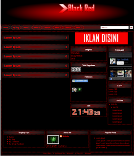 Download Template Black Red Transparent For Blog