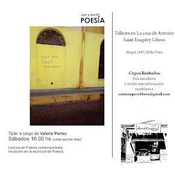 TALLER DE POESÌA EN LA LIBRERÌA SAINT EXUPERY